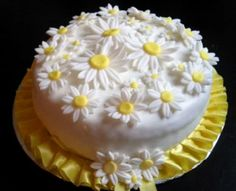 Dogum günü pasta, papatya konsepti, sari, beyaz, yellow, white, daisy, flower, cake, birthday, 1, yaş