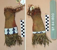 Cheyenne paint bag, buffalo hide. Univ. Penn. Mus. ac