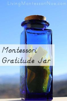 Montessori gratitude jar that works well in the fall or throughout the year
