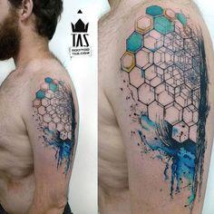Geometric Hexagons http://tattooideas247.com/abstract-hexagon/#49930