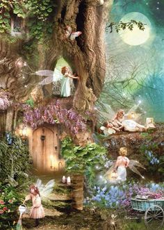 Fairies at play #faeries #fairies #fairy #faerie #woodland #magic #magical…