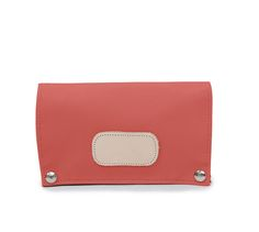 Jon Hart Jewelry Organizer shown in Coral Coated Canvas