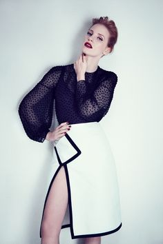 Jessica Chastain for Yves Saint Laurent. Spring 2011 Campaign by Max Vadukul.