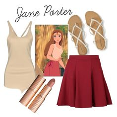 Designer Clothes, Shoes & Bags for Women Tarzan Disney, Jane Porter, Disney Bounding, Disneybound, Charlotte Tilbury, Boohoo, Disney Princess, Polyvore, Outfits