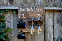 How To Tell Time Coffee Mug Holder Wine Glass by ReclaimedOregon