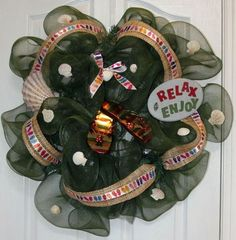 Deco Poly Mesh Flip Flop Wreath