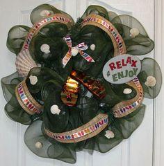 Deco Poly Mesh Flip Flop Wreath