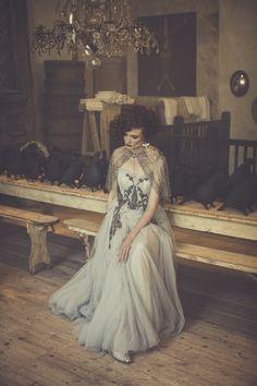 Clothes - Jofleming Design Jewelry - Lotta Djossou Make up - Harriet Rainbow Models - @emylineb Hair - @simplybeautifulweddinghair Photographer - @almostneverblackandwhite & @photocillinuk #Jewelry #lottadjossou #vintage #wedding #weddingdress #elegant #luxury #bijoux #madeinfrance #handmade