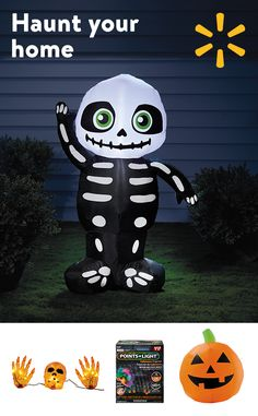 Check out Walmart's weekly ad for freaky Halloween decor.