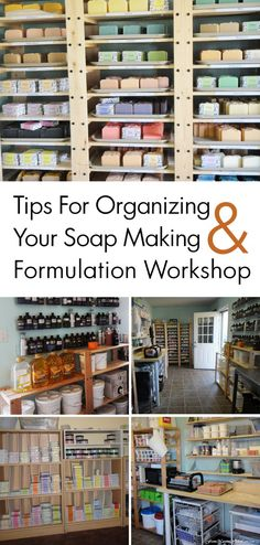 Tips for Organzing Your Soap Making Workshop