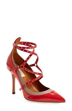 Valentino 'Love Latch' Strappy Grommet Pump (Women) available at #Nordstrom
