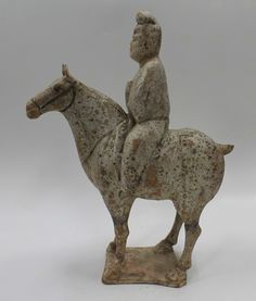 Tang Dynasty Pottery Rider on Horse