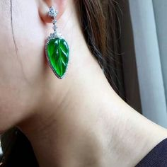 @margueritecaicai. Earrings #gem #jade #jadeite #jewelry #jewellry