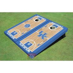 All American Tailgate University of Kentucky Alternating UK Logo and Rupp Arena Basketball Court Cornhole Board