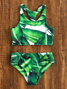 Shop Leaf Print Ladder Cutout Racer Back Tankini online. SheIn offers Leaf Print Ladder Cutout Racer Back Tankini & more to fit your fashionable needs.