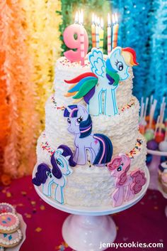 My Little Pony Birthday Party via Kara's Party Ideas KarasPartyIdeas.com Cake, decor, tutorials, recipes, favors and MORE! #mylittlepony #mylittleponyparty #ponyparty #rainbowparty #girlpartyideas (3)