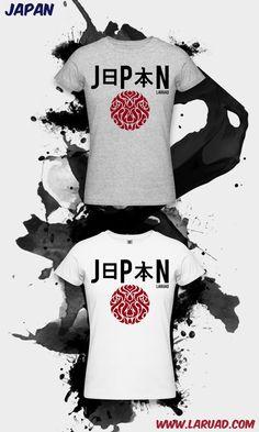 New design t-shirt : JAPAN by LARUAD  http://www.laruad.com/shop_us/women_wear.php