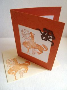 Stampin up handmade card Cowboy Country Mustang Rodeo by Wcards, $3.00