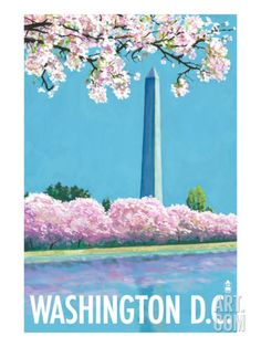Washington DC, Washington Monument Art Print by Lantern Press at Art.com