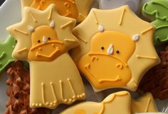 Decorated Triceratops Cookies - so cute! Another fun idea from Sugarbelle. This makes me want to watch Land Before Time again and relive the glory days of childhood haha