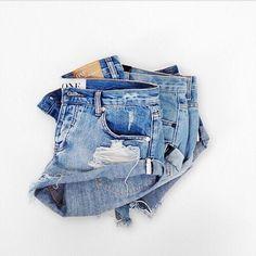 denim shorts #oneteaspoon