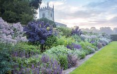Cool border at Coughton Court, Warwickshire, United Kingdom
