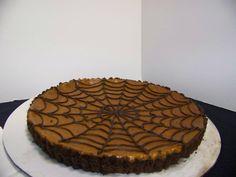 A spooky treat...Spiderweb tart for Halloween!