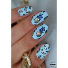 La meuf qui publie un article une semaine après avoir fait le nail art en question c'est moi  Sur le blog donc je vous montre des photos de mon nail art fruité  pour le #topatopanniversaire  #nailart #stamping #reversestamping #topatopa #tp01 #tp08 #pineapple #ananas #banana #bluenails #matenails #nailitdaily #nails2inspire #fruitnails #cincin #cirquecolors #colouralike #borrowedandblue #sfumatiblog by sfumati