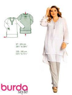 Patron burda tunique femme gratuit - l'atelier couture