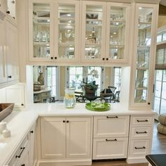 Love the see-through cabinets