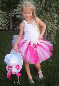 RODEO COWGIRL Hot Pink Halloween Costume Tutu by taddletellshop, $49.99