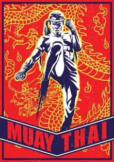 Muay Thai Fighter Vectors