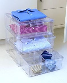 Stackable Acrylic Shirt Drawer