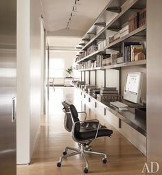 A study area featuring stainless-steel hall shelving The stainless-steel hall…