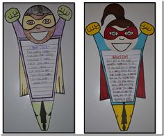 Superheroes (a craftivity and writing lesson) for R-Controlled Vowels