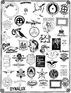 Letterology: Early 20th Century Trade Marks - post full of pages - worth a looksee