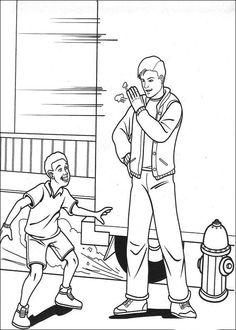 Spiderman Målarbilder för barn. Teckningar online till skriv ut. Nº 6
