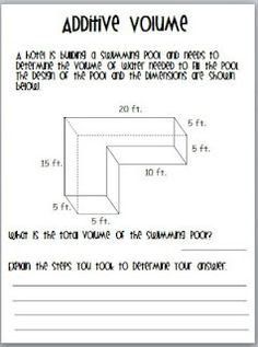 Teaching To Inspire In 5th: Teaching Volume Unit *Common Core Resource*
