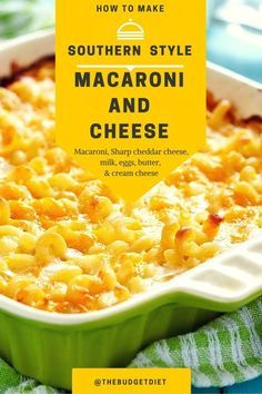 ... is it! Southern Baked Macaroni and Cheese will bring back memories