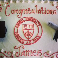 Another amazing Cornell University inspired cake posted on Instagram by Pieceofcakebakeryandcafe