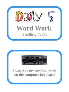Here are 17 different Daily 5 Word Work activities that students can engage in.  These activities allow students to select which activity they want...