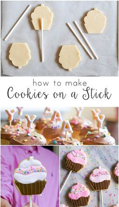 how to make cookies on a stick | bakeat350.blogspot.com for The Pioneer Woman…