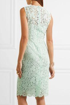 Dolce & Gabbana - Corded Cotton-blend Lace Dress - Mint - IT42