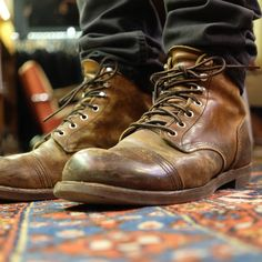 The Best Men's Shoes And Footwear : Red Wing Iron Rangers -Read More – Botas Red Wing, Red Wing Boots, Best Shoes For Men, Men S Shoes, Men Sneakers, Red Wing Iron Ranger, Mens Boots Fashion, Rugged Fashion, Boating Outfit