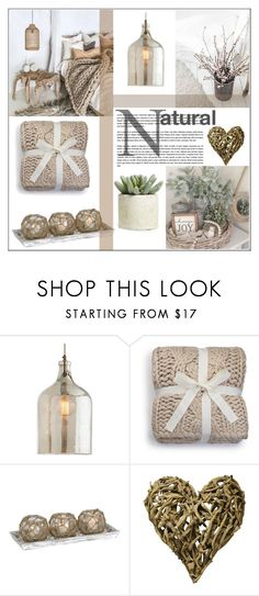 """""""Home Naturals Inspired"""" by pat912 ❤ liked on Polyvore featuring interior, interiors, interior design, home, home decor, interior decorating, Arteriors, UGG, Sugarboo Designs and Allstate Floral"""