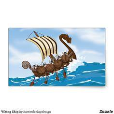 Viking Ship Rectangular Sticker