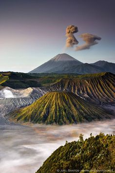 Mount Bromo (Gunung Bromo) part of the Bromo Tengger Semeru National Park, an active volcano and part of the Tengger massif, in East Java, Indonesia. Places To Travel, Places To See, Travel Destinations, Places Around The World, Around The Worlds, Belle Photo, Beautiful Landscapes, The Great Outdoors, Wonders Of The World