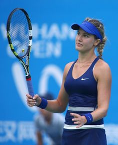 Eugenie Bouchard Photos: Dongfeng Motor Wuhan Open: Day 5. Eugenie Bouchard of Canada reacts during her match against Alize Cornet of France on day five of the 2014 Dongfeng Motor Wuhan Open at Optics Valley International Tennis Center on September 25, 2014 in Wuhan, China.