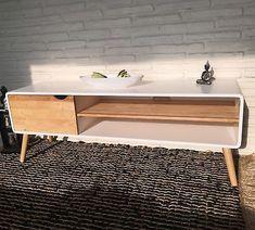 Sideboard Lowboard Retro Design Modern chic Kommode TV Tisch weiß natur
