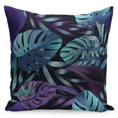 Čierna dekoračná návliečka s listami Throw Pillows, Bed, Toss Pillows, Cushions, Stream Bed, Decorative Pillows, Beds, Decor Pillows, Scatter Cushions